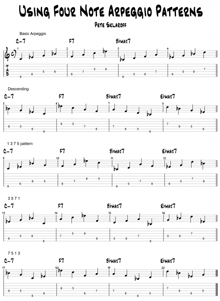 Four Note Melodic Cells